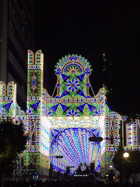 (2016年12月の神戸ルミナリエの様子)