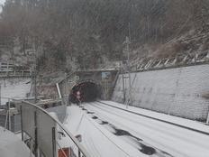 朝から雪の川上村(1月23日)