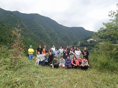 未来への風景づくり見本園草刈り体験ボランティア実施しました