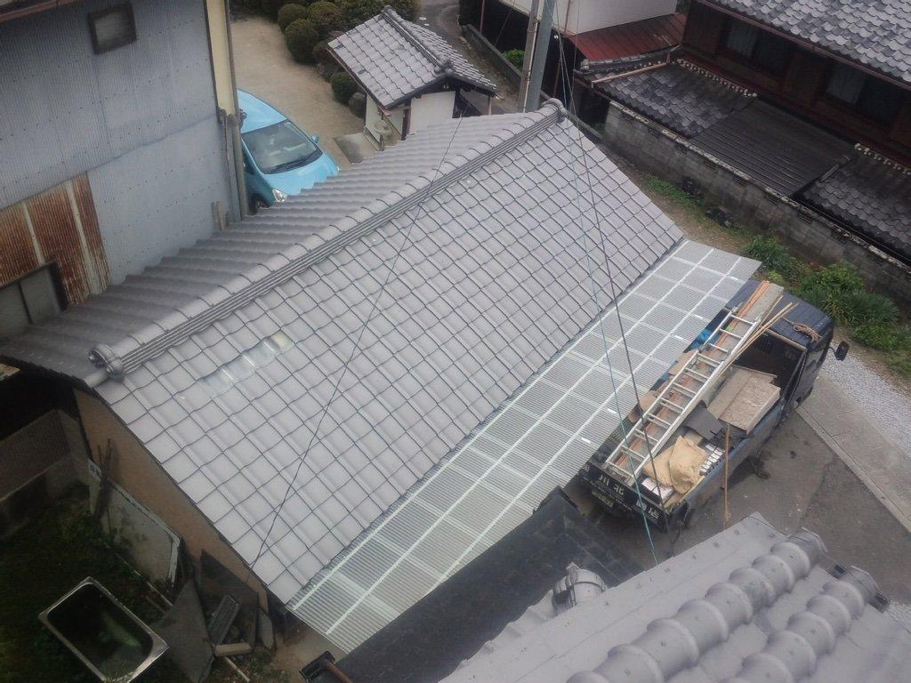 神ってる屋根、完成です。