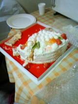 食べかけのケーキ
