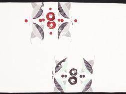 「椿」九寸名古屋帯地 日本工芸会会員 湯本エリ子作