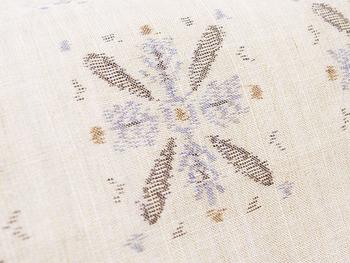 小千谷縮 雪の結晶の絣着物