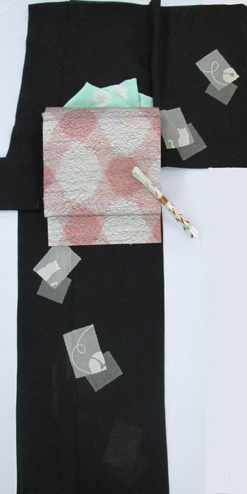猫附下×紗袋帯