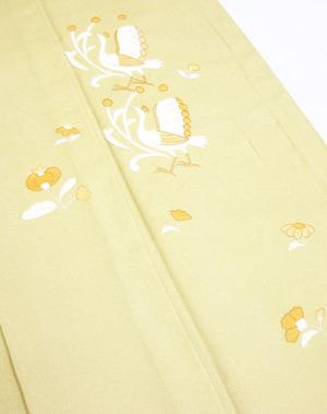 鳥と花の柄相良刺繍単衣附下