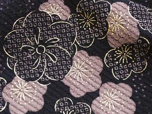 梅と桜小紋長羽織