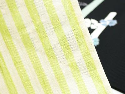 泉駒上布縞単衣 こうげい芥川扱 アップ2