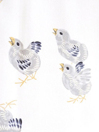 梅と桜小紋長羽織(裏)