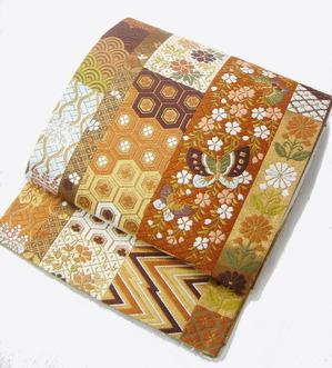 短冊取唐織袋帯 河合美術織物製