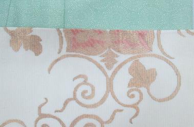 蔓花文絽綴袋帯 銀座きしや扱 前柄