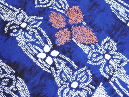 花繋ぎ模様本絞り染浴衣 藤娘きぬたや製