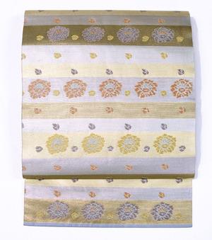 段変りに花の柄名古屋帯 川島織物製