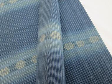 琉球美絣 木綿単衣着物アップ