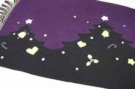 クリスマスツリーの柄 絞り染ショール