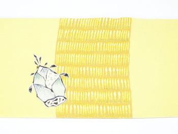 筍の柄友禅名古屋帯