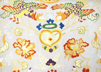 双鳳凰文様袋帯 河合美術織物製