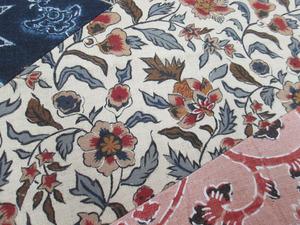 明治時代の木綿更紗布使用 創作帯アップ