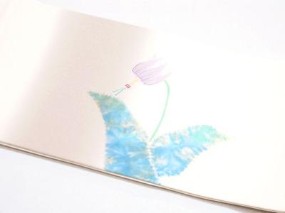 カタクリの花二部式名古屋帯 木原明作 前柄