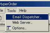 メール設定を開く