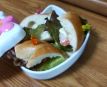 ベーグルのサンドイッチ☆
