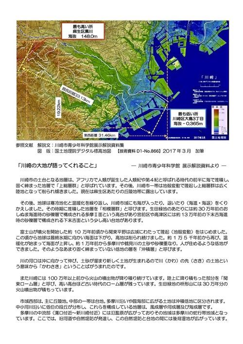 「川崎の大地が語ってくれること」ー壁面展示資料解説文ー