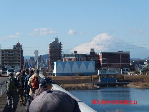 馬入橋富士山