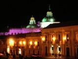 キトの夜景・カラフル教会