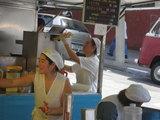 リベ市場の日系女性