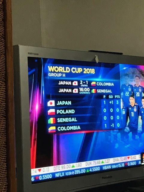 日本サッカー(コロンビア)20180619