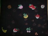 東京黒地フルーツ帯