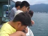 船上で・・・