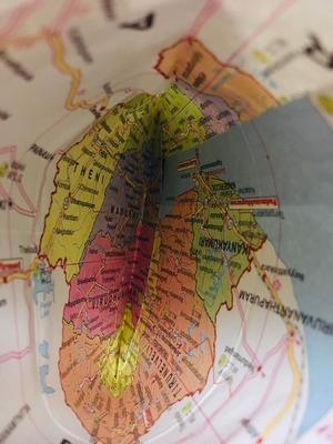 封筒の中は地図。