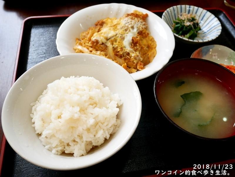 500円ランチ・煮カツ定食。栃木市・お食事処さいとう
