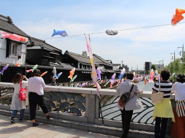 栃木市・巴波川と幸来橋