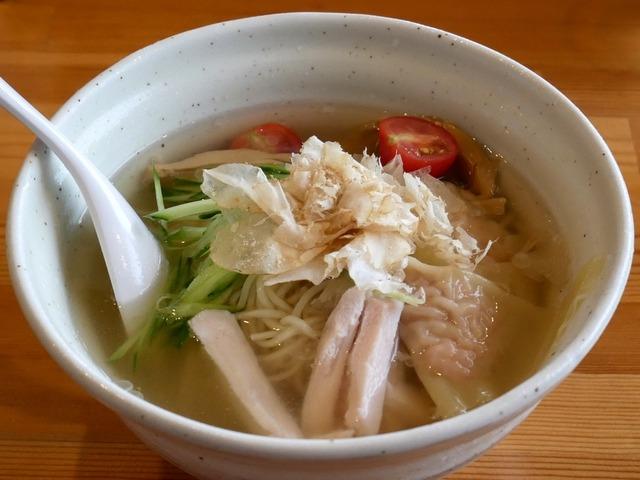 麺堂HOME・四種の節の冷製塩らーめん