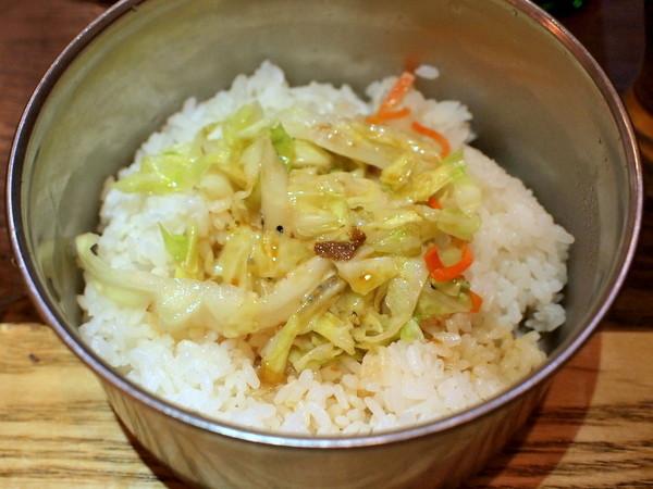 劉の店@錦糸町・台湾鉄道弁当(ご飯に茹でキャベツ)