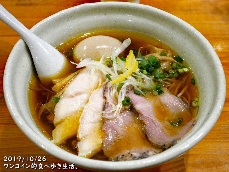 麺堂HOME・淡麗鶏しょうゆラーメン