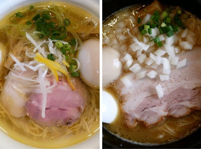 栃木市・麺堂HOME 鶏淡麗塩・鶏白湯