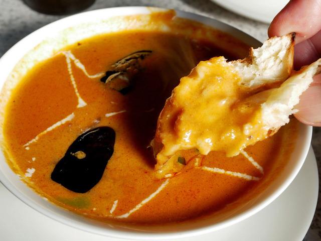 チキン茄子カレー。シーフードのサグカレー。栃木市・ヒマラヤカレー