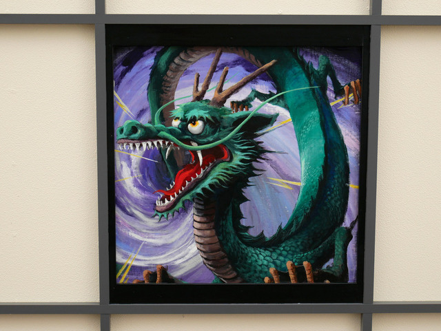 JR日光駅の天井にあった龍の絵