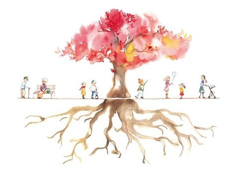 木の根 花 大木_S