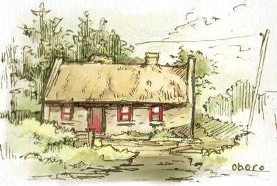 赤い窓のお家