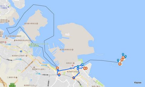 横須賀軍港・猿島ルート
