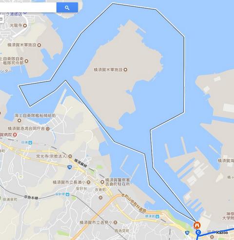 横須賀軍港巡りクルーズルート