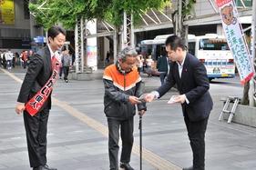 くまがい市長千葉駅駅頭2