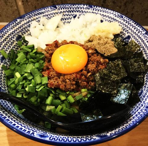麺やまだ平日夜限定の台湾まぜそば