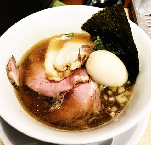 麺屋壱心さんの煮干しそばと、和え玉(龍ケ崎)
