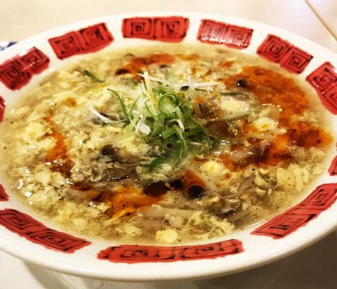 バーミヤンさんで初体験、酸辣湯麺(サンラータンメン)