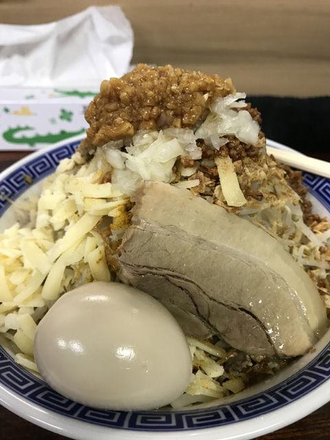 ほぼカレー麺なまぜそば、東葛マルカク(我孫子店)