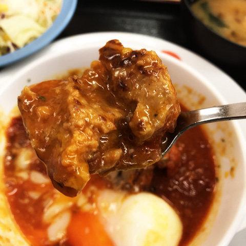 2018年版うまトマハンバーグ定食(松屋)
